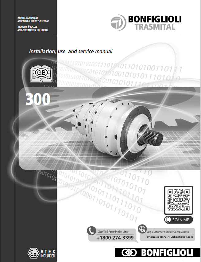 Installation, use and service Manual - 300 series