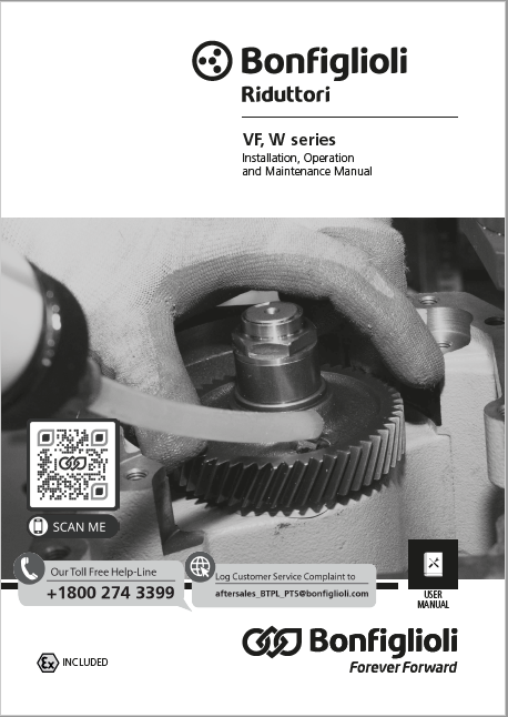 Installation, use and service Manual - VF, W series