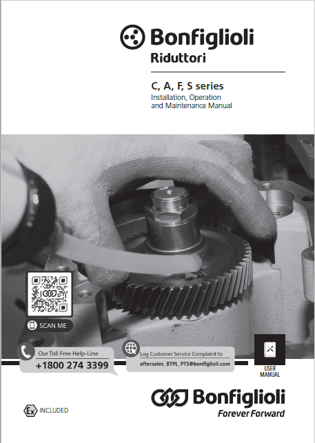 Installation, use and service Manual - C, A, F, S series