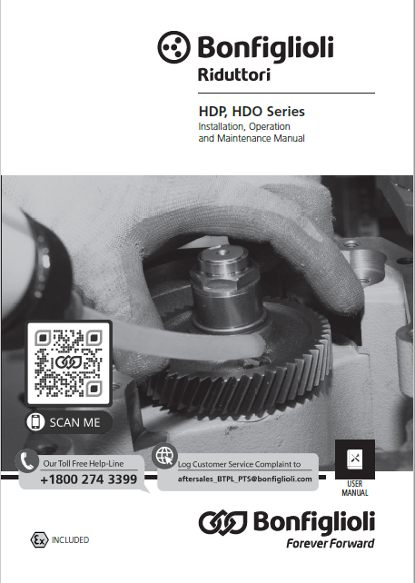 Installation, use and service Manual - HDP, HDOseries